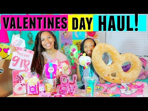 Valentines Day Haul 2018! Target And Walmart! Gift ideas, kawaii, floam, room decor!