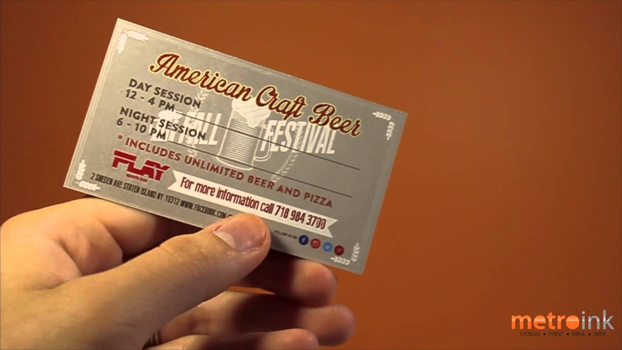 Metroink Business Card 14pt Natural Uncoated Play - YouTube