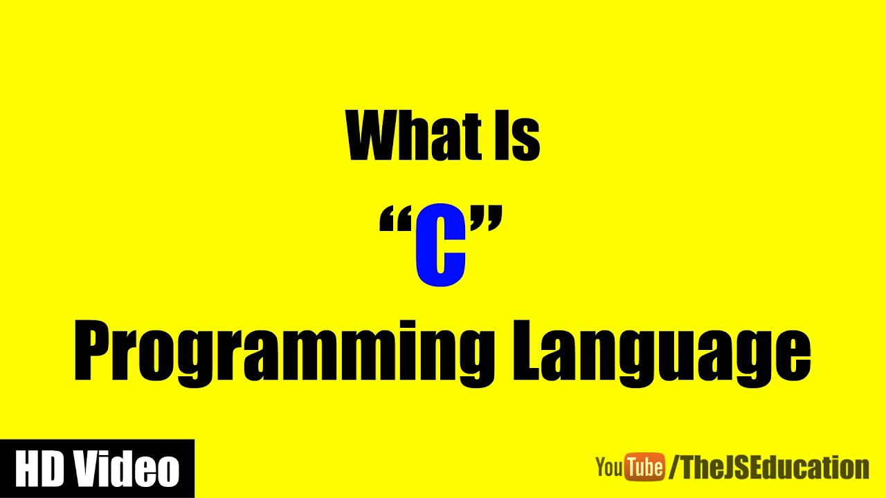 Small Introduction To C Programming Language