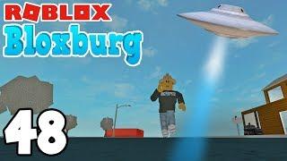 ALIEN CHAMA UFO! | Roblox BLOXBURG | PE. 48