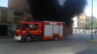 اليوم صباحا حريق حافلة تابعة لشركة النور بمدينة وجدة حي السلام عوينت السراق