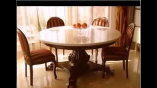 видео Овальные стеклянные столы для кухни, чем хорош раскладной кухонный стол?