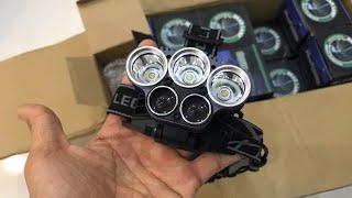 Đèn Pin Đội Đầu 5 Bóng Led Siêu Sáng Kèm Pin Sạc