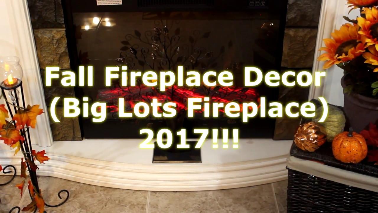 fall fireplace decor big lots fireplace 2017 youtube