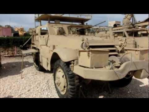 Israeli modified WWII M3 Mk Half-Tracks APC as Mobile Hydraulic Crane