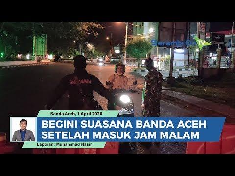 Begini Suasana Kota Banda Aceh Setelah Masuk Jam Malam