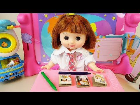 Baby doll school and bus toys baby Doli play