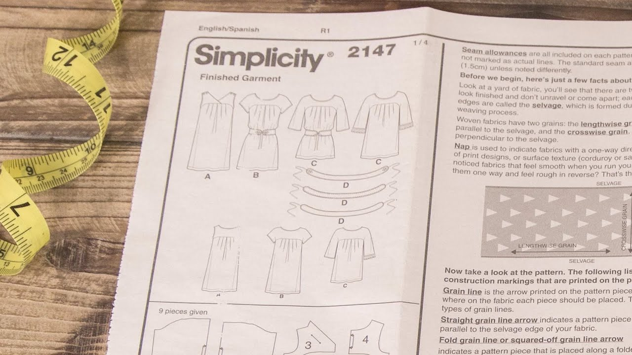 How To Read A Sewing Pattern The Instructions Youtube