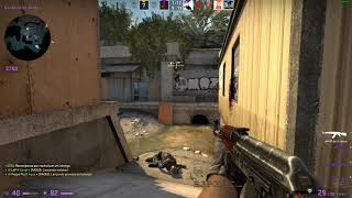Counter strike / 3k na Overpass!! (Round completo!! )