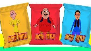 vuclip Motu Patlu Ghasitaram vs Chingam Candy Heads, Learn Colors with Motu Patlu in Hindi