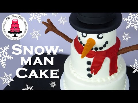 Cake Decorating Icing Artist : Christmas Snowman Cake - How To With The Icing Artist ...