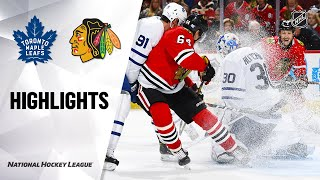 NHL Highlights | Maple Leafs @ Blackhawks 11/10/19