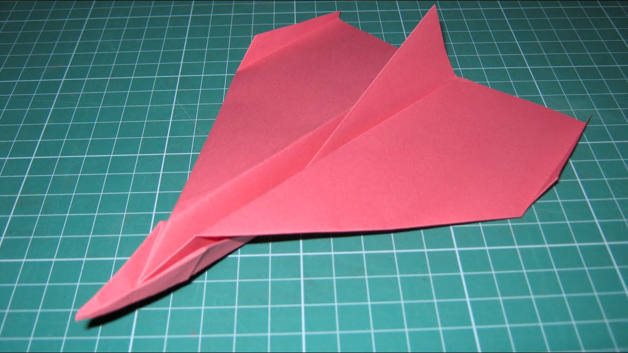 Origami Tutorial Paper Airplane Glider That Flies Far