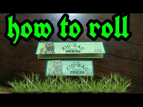 how to roll Zig zag organic hemp papers
