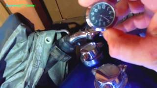 Handy Handlebar Motorcycle Clock