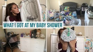 Baby shower haul | What I got at my baby shower