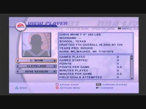NBA Live 2001 The Top 13 Draft picks of The 2000 NBA Draft