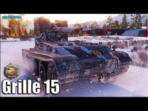 Гриль 15 ТАЩИТ ✅ 10 фрагов World of Tanks Grille 15 лучший бой ПТ САУ 10 уровня