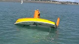 Righting a Capsized Sailing Dinghy