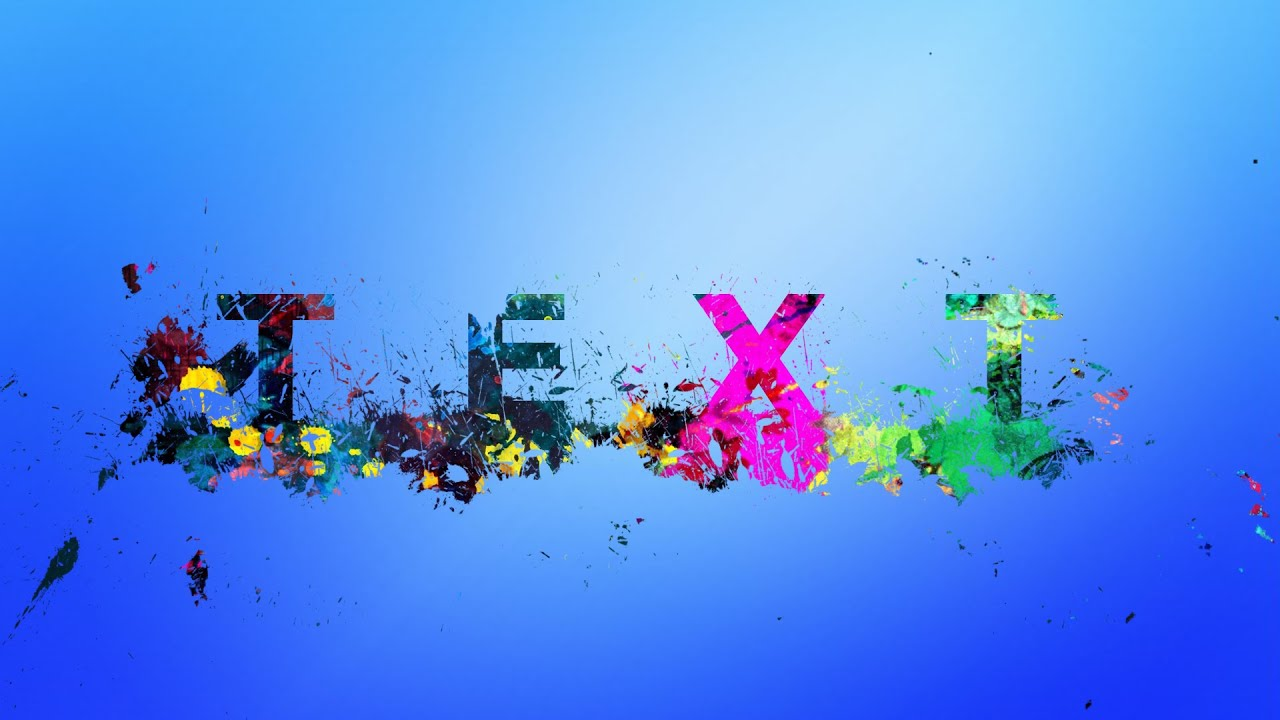 Photoshop tutorial splatter text effects youtube baditri Gallery