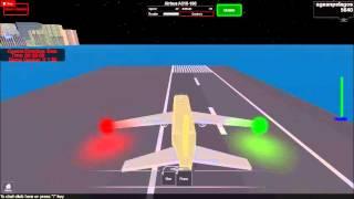 ROBLOX Airbus A318-100 transportadora aproach e desembarque
