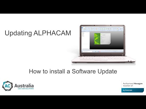 How to install a software update | ALPHACAM Tip & Trick