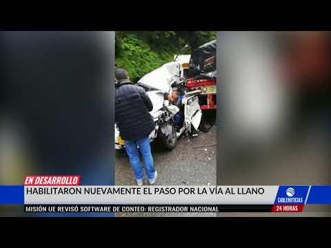 Accidente en vía Bogotá–Villavicencio deja una persona muerta
