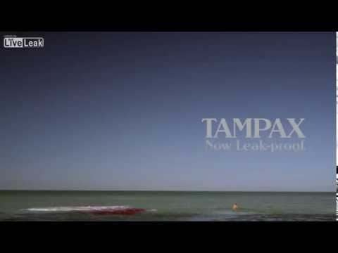Babe Eaten By Great White Shark: Russian Tampon Ad