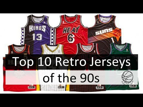 sneakers for cheap 67563 484e1 10 Best NBA Retro Jerseys from the 90s - YouTube