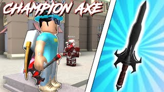 CHAMPION AXES & COMPETITOR BLADES! (Roblox Assassin)