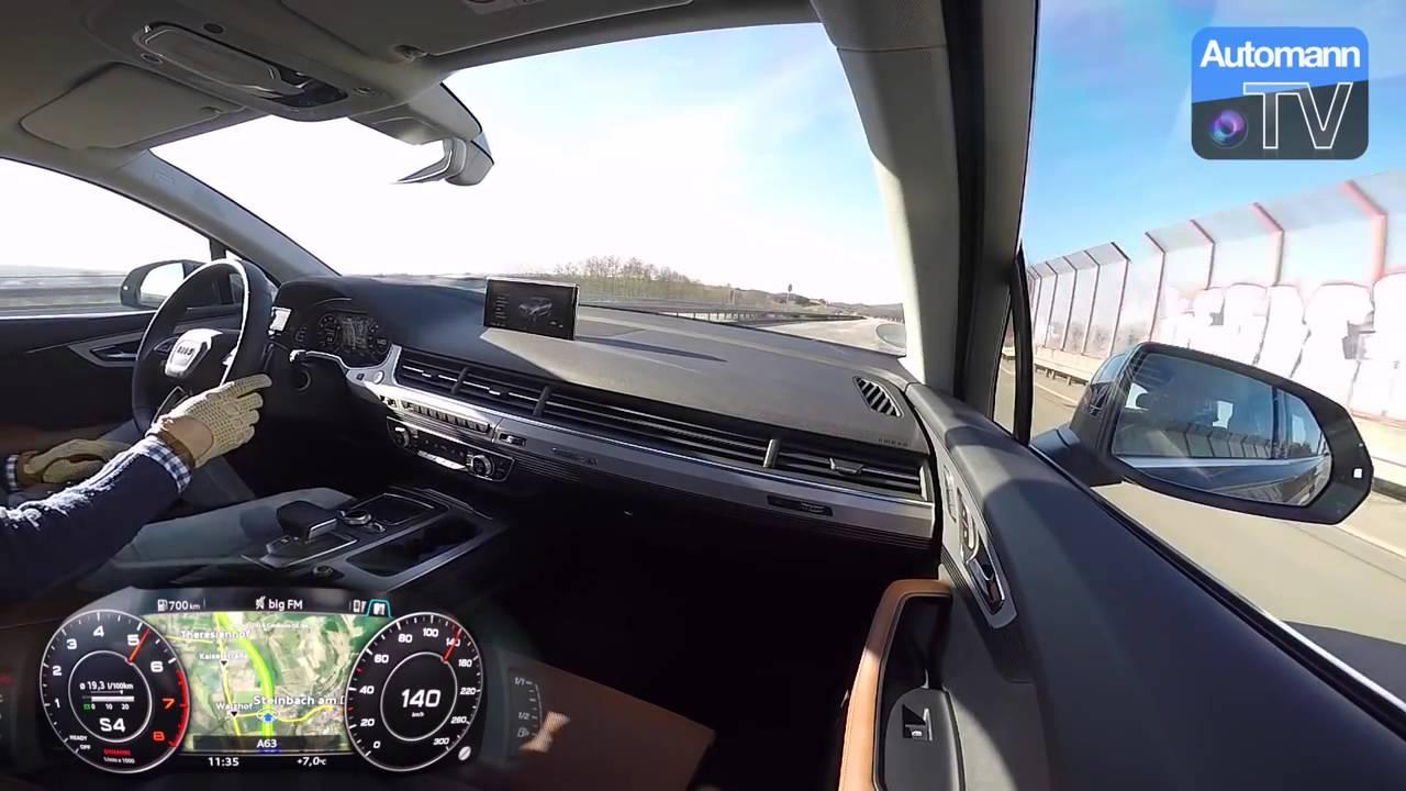 АУДИ Q7 3 0 TFSI 333 лс 2016 разгон от 0 200 км ч - YouTube