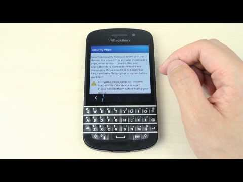 Hard Reset the BlackBerry Q10 to Factory Soft - Hard Resets
