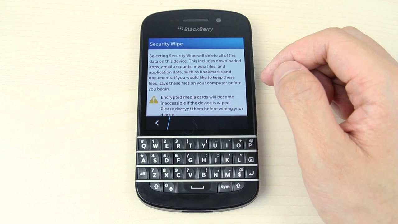 How To Master Reset Blackberry Q10