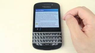 How to master reset Blackberry Q10
