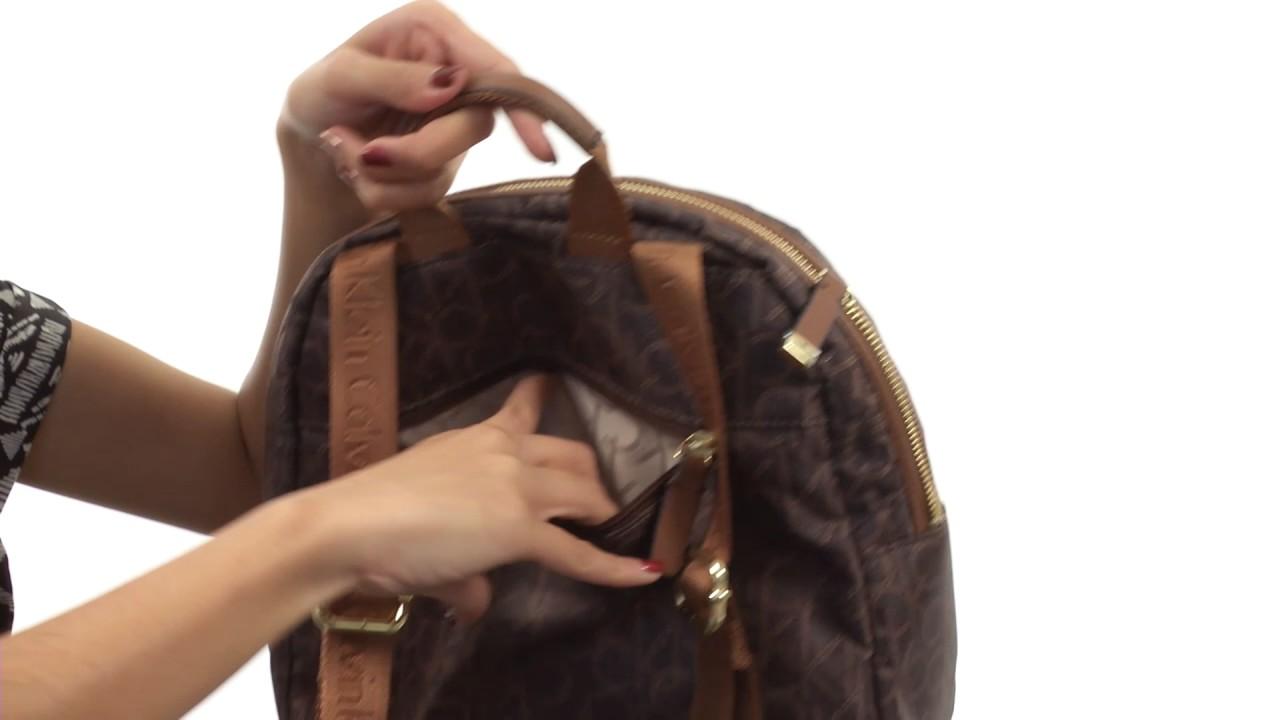 0830bc19127 Calvin Klein Belfast Dressy Nylon Backpack SKU:8812679 - YouTube