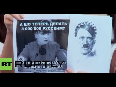 """Italy: Protesters say """"No to the Nazi coup d'etat in Ukraine!"""""""