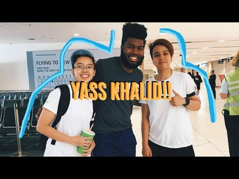 I Met KHALID At Work!! 😝 (send me your location 😈)