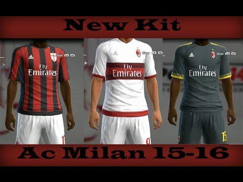 NEW KIT DEL AC MILAN 15-16 PES 13 PC - YouTube