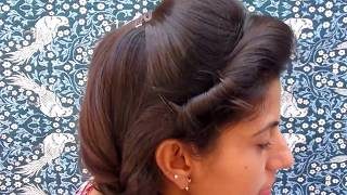 MOST BEAUTIFUL HAIRSTYLE FOR WOMEN || OUT GOING HAIRSTYLE || Side Puff With Fishtail Braid Hairstyle