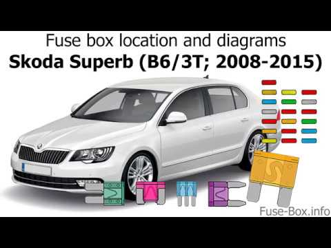 Fuse box location and diagrams Skoda Superb (B6/3T; 2008-2015