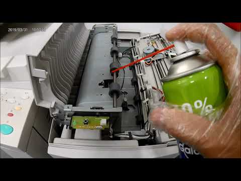 Paper Jammed in Xerox WC 5655 cleaning of sensors/corona wire