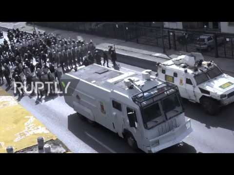 Venezuela: Molotov cocktails fly in Caracas as violent protests continue