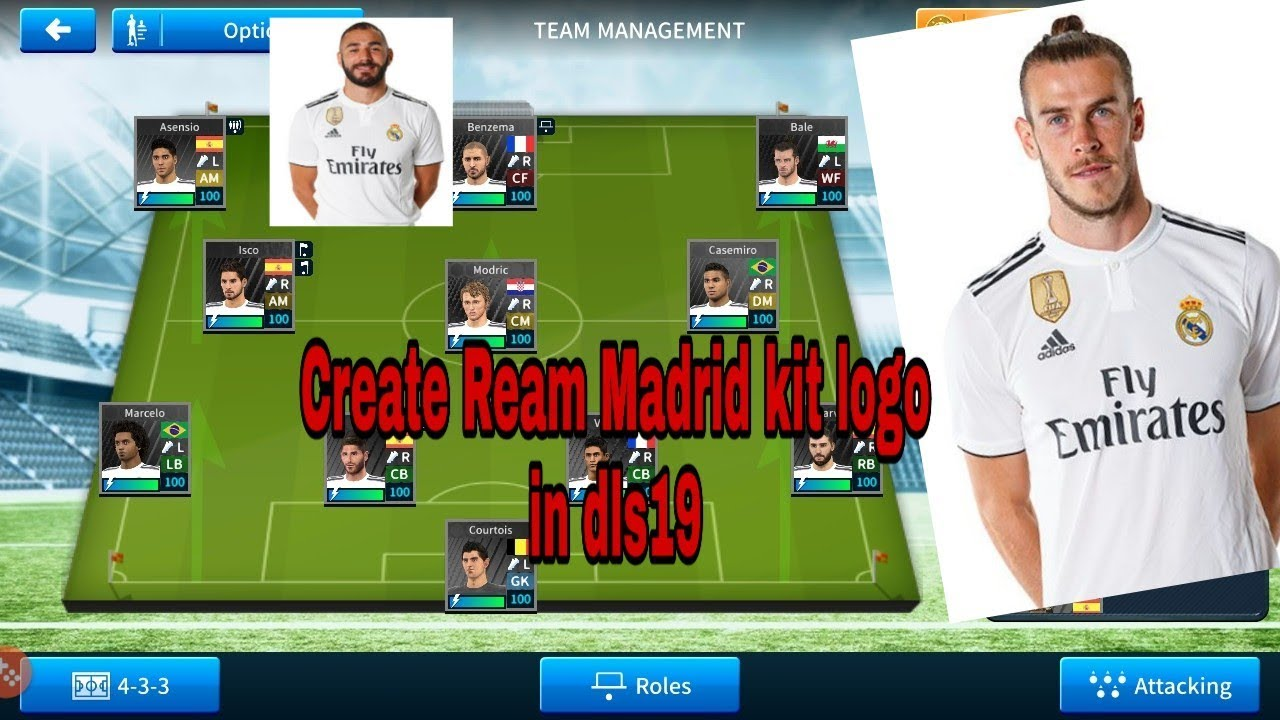 How To Create Real Madrid Team Kits And Logo In Dream League Soccer