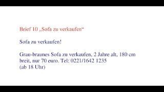 Start Deutsch A1 Briefe Schreiben