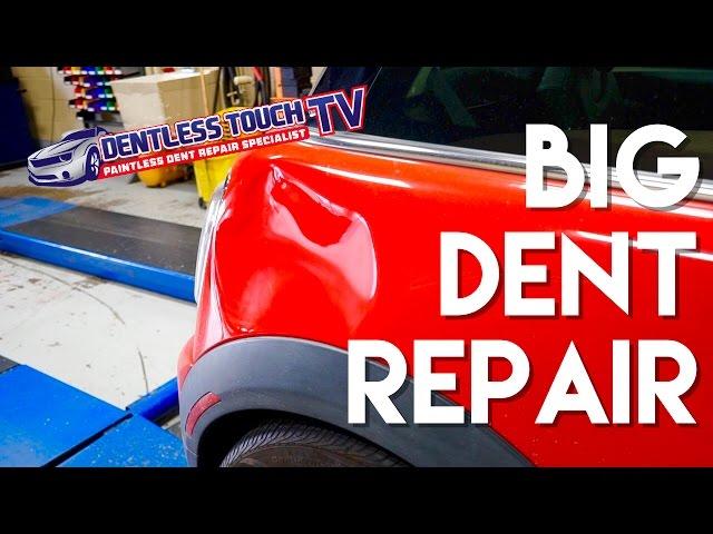 Mini Cooper | Paintless Dent Repair  |  BIG DENT | DENTLESS TOUCH