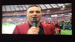 Fox Apologizes for Robbie Williams' Obscene Gesture at World Cup