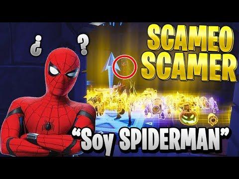 SCAMEO a SCAMER MUY RATA que DICE QUE ES SPIDERMAN en FORTNITE -Scameando Scamers