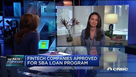 Fintech companies approved for SBA loan program