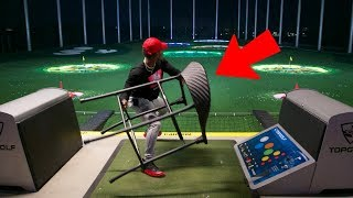 THROWING THINGS AT TOP GOLF!