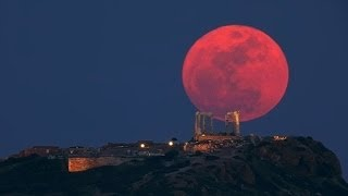 Luna de Sangre para el 15 de Abril de 2014 en América.